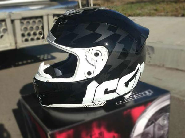 Plasti-dip and an Icon Motorcycle Helmet