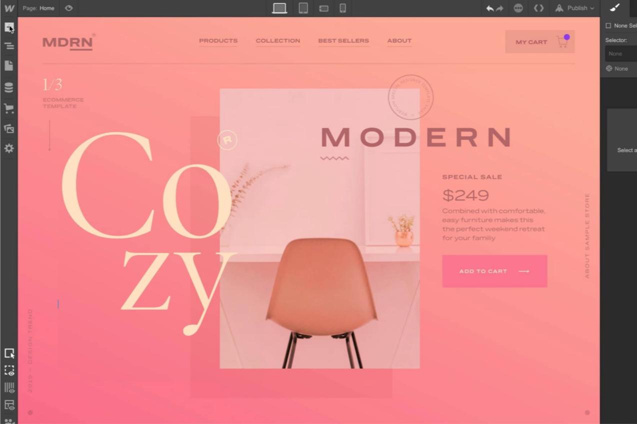 Webflow creates a new way to make websites